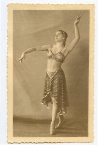1920s Vintage Belly EXOTIC DANCER Dance Dancing Beauty photo postcard