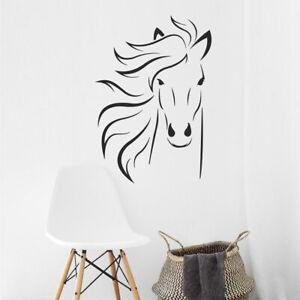 Pferd Springpferd ReitenTatto Wandtattoo Wandaufkleber Pferdeanhänger 58 x135cm