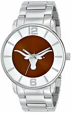 NEW Game Time COL-AP-TEX Men's All-Pro Watch Texas Long Horn Silver Accents Band