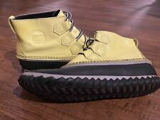Sorel Womens Bright Yellow Out N About Duck Rain Boots Size 9