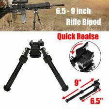 Rifle Bipod CNC QD Tactical Picatinny Rail 6.5 -#9 inch Bipod Flat Adjustable