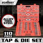 110pcs Tap and Die Combination Set Tungsten Steel Titanium Metric Tool  |