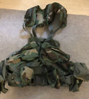 U.S.G.I Camo Load Bearing Enhanced Tactical Vest With Pouches & Pistol Belt