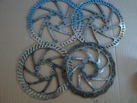 A018-391: 4 Fahrrad Bremsscheiben 6 Loch Aufnahme u.a  Tektro 160 /180 mm