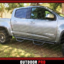 15-18 Fit Chevy Colorado Matted Crew Cab Hoop Nerf Bar Running Boards Side Steps