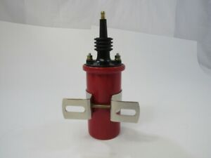 Ignition Coil 45,000 Volt Canister Cylindrical Style Male Connection 12V RED