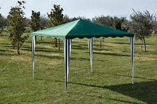 Gazebo verde in acciaio 2x2 m da esterno giardino con copertura in poliestere
