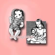 Vintage Baby Doll Pattern ~ Sunsuit & Bonnet
