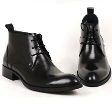Mens 100% Real Leather Oxford Formal Dress Shoes Ankle Boots Business Casual New