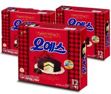 HAITAI OH YES Chocolate coated Cake 12 Pack X 3 Boxes Made in Korea