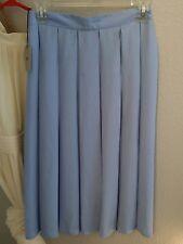 ASOS robin egg blue Pleated Knee Length Skirt Size 4