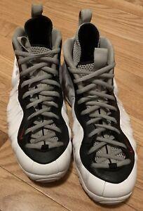 Nike Air Foamposite Pro White University Red Men's Shoes Size 11