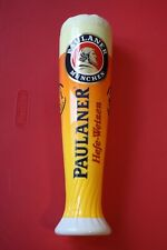 Paulaner Munchen Hefe-Weizen Beer Tap Handle, Beer glass, Rare, Germany