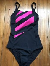 Black And Pink Swimming Costume Swimsuit Size 20 Marks and Spencer Shaper