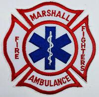 Marshall Area Fire Fighters Ambulance Calhoun County Michigan MI Patch