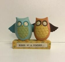 Birds Of A Feather Colourful Owls Home Decor Decoration Ornament NEW Blossom