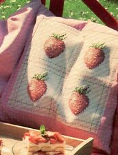 FRUITS OF SUMMER - cross stitch pattern from magazine - strawberry cushion