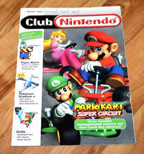 2001 Club Nintendo Magazine Kirby 64 Zelda With Mario Kart Super Circuit Poster