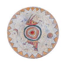 Decorative Plate - Handmade Ceramic Table or Wall Art Decor Plate - Textured Rim