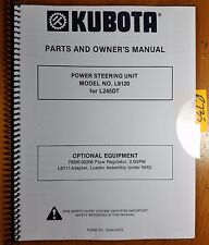 Kubota L9120 Power Steering Unit for L245DT Tractor Owner Operator Parts Manual