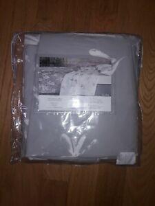 Sferra Alma Alumbra King Duvet & Shams 3 Piece Set Grey/Snow Cotton Percale