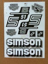 SIMSON S51 B STICKER SET- GRAY