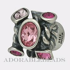 Authentic Chamilia Sterling Silver Marquis Pink Bead JC-2D *RETIRED*