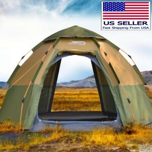 Pop-up Automatic Tent 3-4 Person Instant Camping Tent Backpacking Family Tent
