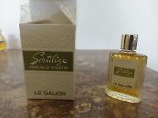 miniature . sortilège. le galion.. parfum de toilette. 9 cm3 . ancien