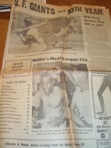 1967 San Francisco Chronicle Giants Opening Day Sports Section Mays Marichal HOF