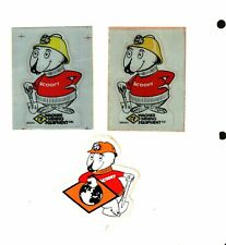3 DIFFERENT NICE SCOOPY COAL MINING STICKERS # 250