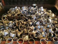 Handcrafted Silver Flatware Spoon Rings Lot of 25 Sz 6-13 will need sized