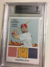 2010 Topps National Chicle Relics Game Used Jsy Albert Pujols Bgs 9 Sp/199 Hof?