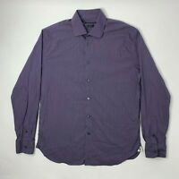 John Varvatos Regular Fit Mens 16 34/35 Shirt Button Front Long Sleeve Purple