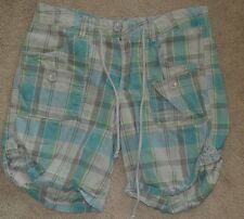 Beautiful Womens shorts- Multi-color (aqua/gray/green) size 4