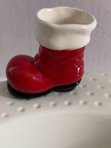 Nora Fleming Mini Santa Boot Big Guy's Boots Ceramic Charm