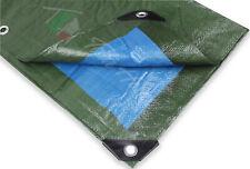 Telo telone occhiellato rinforzato impermeabile pvc multiuso blu verde 9 misure