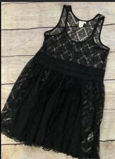 Womens S Anthro E By Eloise Black Lace Dress Unlined