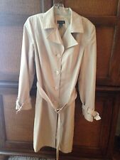 Bebe Beige Polyester Trench Coat Size S
