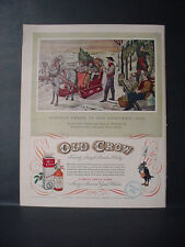 1952 Old Crow Whiskey Holiday Cheer Kentucky 1842 Col Crow Vintage Print Ad11091
