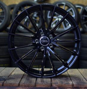 18 Zoll V-Wheels V2 Alu Felgen 5x112 schwarz glanz für Audi S-Line RS S5 Q2 Q3