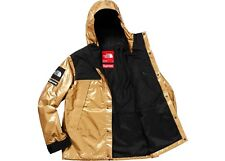 Supreme The North Face Metallic Mountain Parka Gold Large L SS18