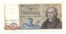 italia 5000 5.000 lire Colombo 2 1977 num 247422 SPL  XF  pick 102c