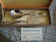 Set posate per dolci con manico in acciaio vintage - Paletta e coltello