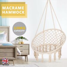 Hammock Rope Swing Chair Knitted Macrame Hanging Chair Seat Balcony Patio Garden