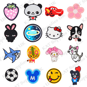 Embroidered Iron On / Sew On Patches Badges For Clothes Fancy Dress Transfers