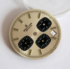 Original breitling watch vintage dial Valjoux 7740 date chronograph Silver