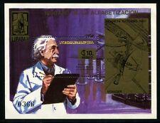 365/SPACE RAUMFAHRT 1981 Nicaragua Albert Einstein Bl.135 MNH