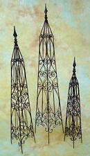 3er Set Obelisk Kletterhilfe Rankhilfe Käfig Rankgitter 0948826-xb