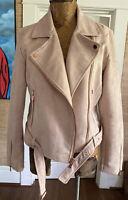 Lauren Conrad Runway Limited Edition Blush Pink Moto Jacket Rose Gold Zipper 16